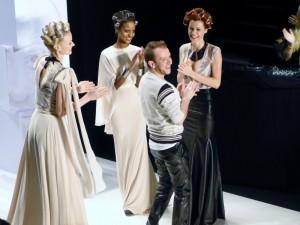 Finale bei Stephan Pelger Show auf der Fashion Week in Berlin - Januar 2012