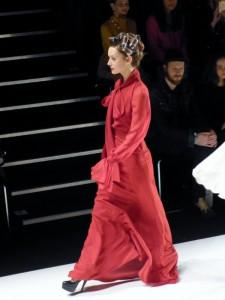 Model bei Stephan Pelger Show auf der Fashion Week in Berlin - Januar 2012