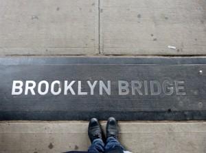 Feet on the Brookly Bridge