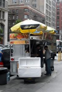 Hotdogstand in New York City