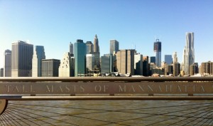 Skyline Downtown New York City - Brooklyn