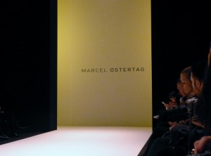Marcel Ostertag Eingang bei der Mercedes Benz Fashion Week in Berlin