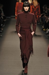 Model at  the Ready to wear Fall Winter 2012 Fashion Show - Allude in Paris