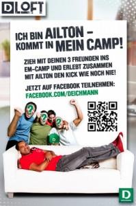 Deichmann EM-Camp mit QR Code