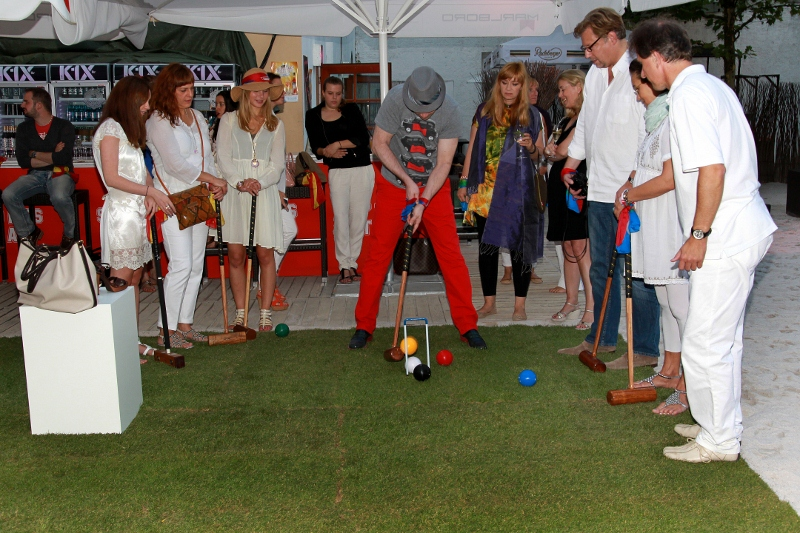Me at Bogner Croquet-game in Munich - Nektar Beach