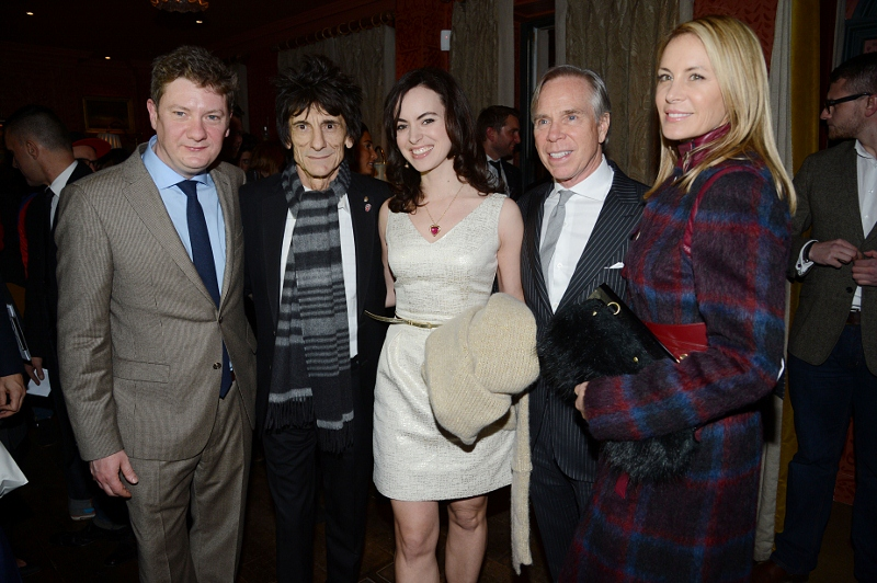 Alex Bilmes, Ronnie Wood, Sally Humphries, Tommy and Dee Hilfiger in London (Tailored Collection)