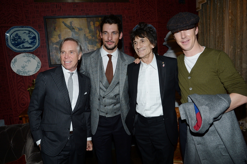 Tommy Hilfiger, David Gandy, Ronnie Wood, Benedict Cumberbatch in London (Tailored Collection)