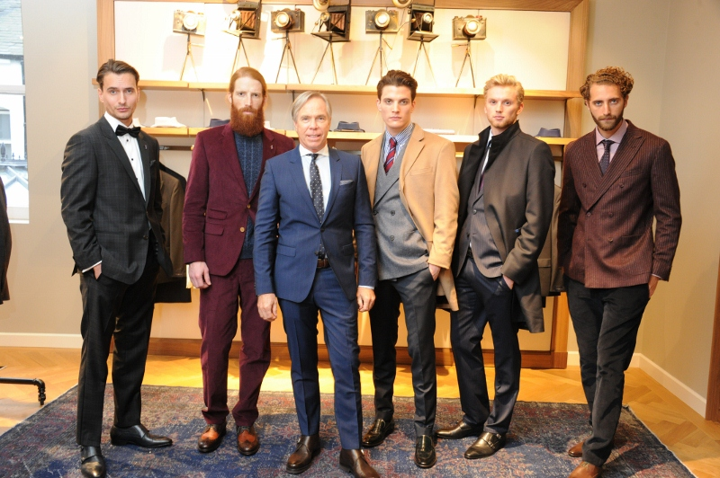 Tommy Hilfiger and Models (Tailored Collection) in London