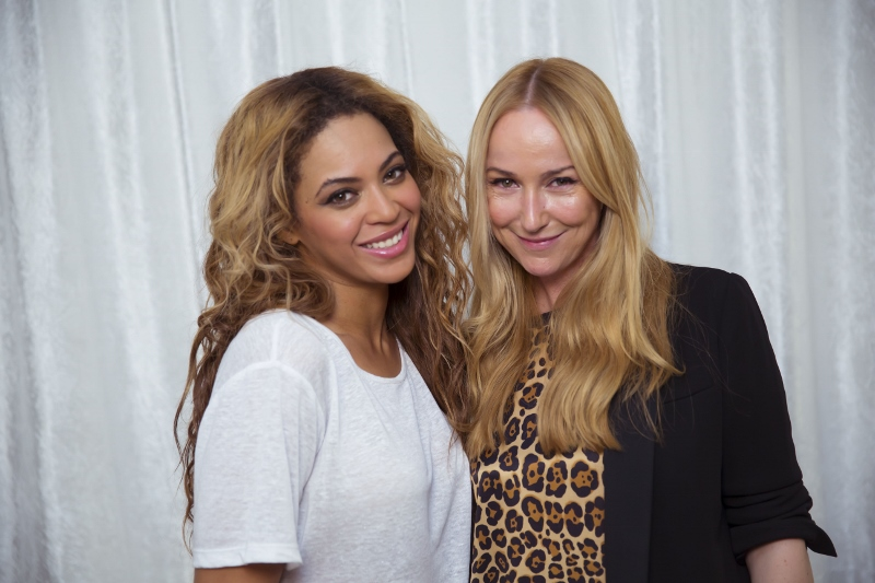 Frida Giannini and Beyonce Knowles-Carter