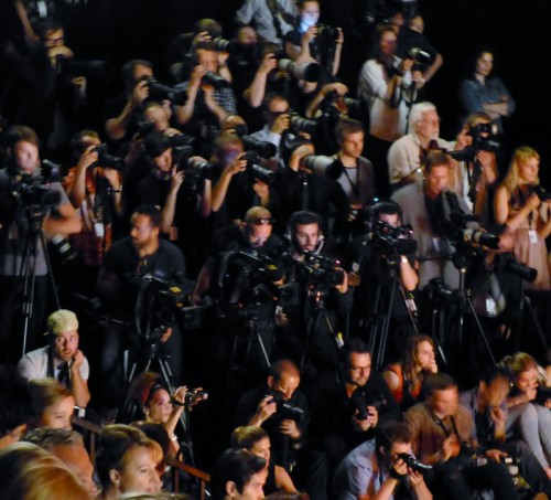 Photographers at the Mercedes Benz Fashion Week in Berlin