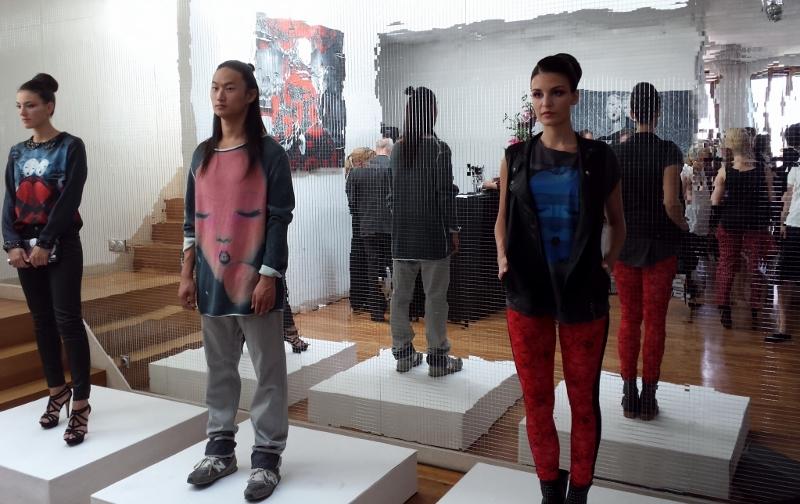 ART COLLECTION von Qiu Shengxian für s.Oliver in Berlin im Rahmen der Mercedes Benz Fashion Week