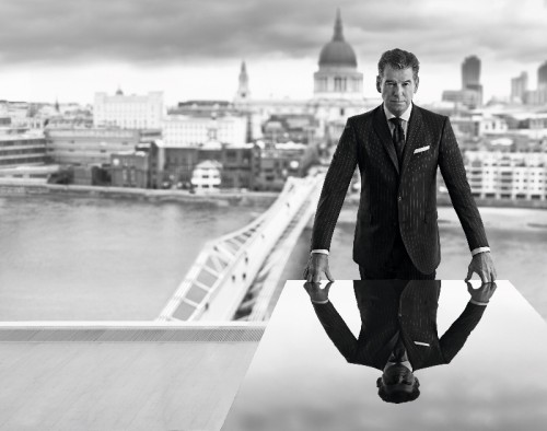 Pierce Brosnan photographed by Terry O'Neill exclusively for Hackett London - FallWinter 201314_2