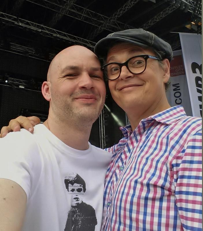 Rolf Scheider and me at Fashion&Music in Metzingen