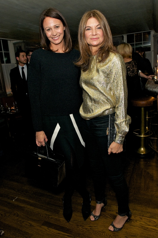 Caroline Rush and Natalie Massenet attend Tommy Hilfiger & Jonathan Newhouse LCM Dinner at The Emin Room at Restaurant 34