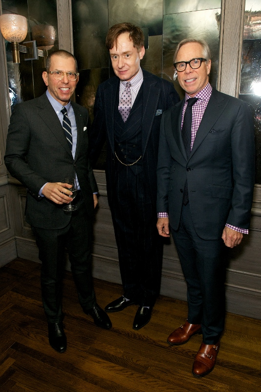 Jonathan Newhouse, Nick Foulkes and Tommy Hilfiger  attend Tommy Hilfiger & Jonathan Newhouse LC:M Dinner at The Emin Room at Restaurant 34