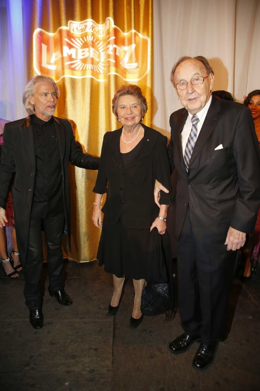 Lambertz Monday Night 'Goddesses & Divas' 2014 - Hans-Dietrich Genscher, Barbara Genscher and Dr. Hermann Bühlbecker - Copyright Agenur Baganz