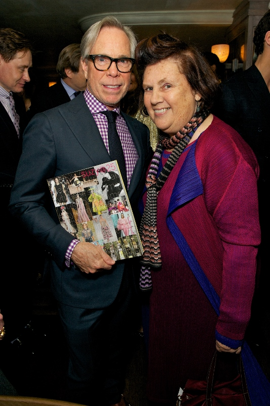 Tommy Hilfiger and Suzy Menkes attend Tommy Hilfiger & Jonathan Newhouse LC:M Dinner at The Emin Room at Restaurant 34