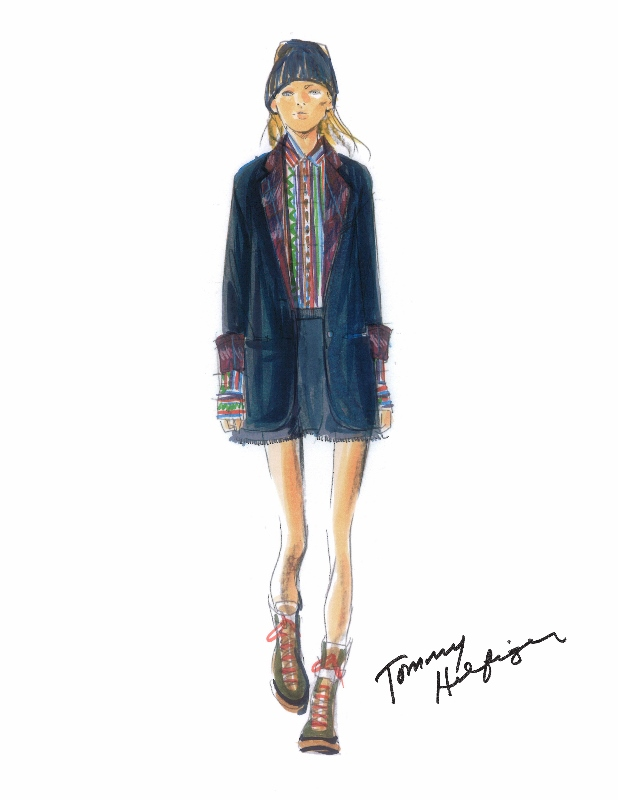 Tommy Hilfiger Fall/Winter 2014/15 Women's Collection - Sketch