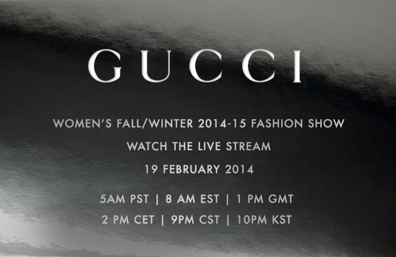 GUCCI Women`s Fall/Winter 2014/15 – Livestream
