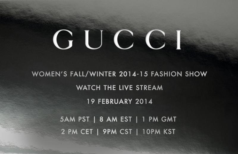 GUCCI Women`s Fall/Winter 2014/15 – Livestream