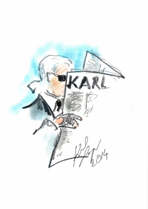 Karl Lagerfeld - KARL DAILY Sketch