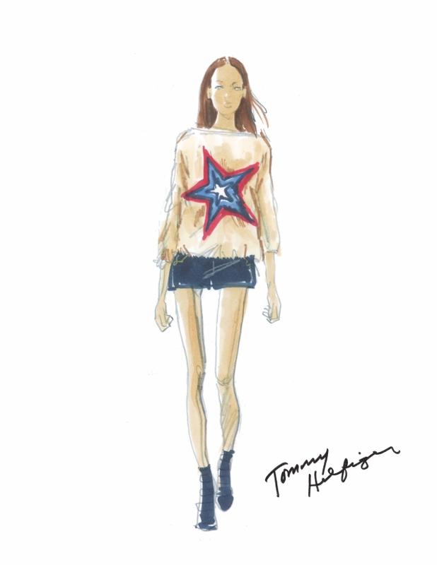 Sketch - Tommy Hilfiger Womenswear Spring/Summer 2015