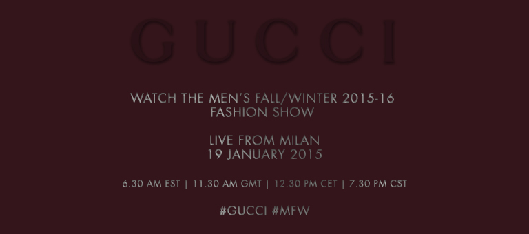 Gucci Livestream Teaser Fall/Winter 2015/16
