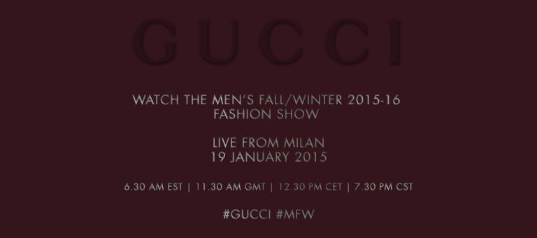 Gucci Livestream Teaser Fall/Winter 2015/16