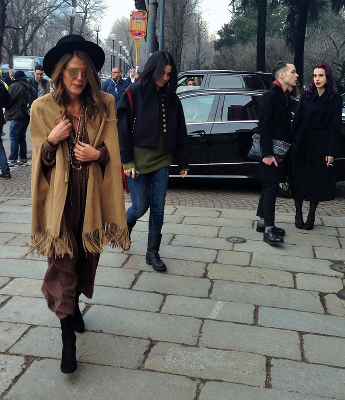 Anna Dello Russo on her way in Milan