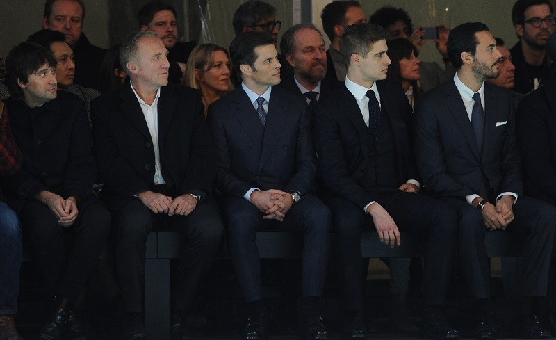 BRIONI Fall/Winter 2015/16 – Milano Artist Francesco Vezzoli, CEO Kering François-Henri Pinault Pinault and Actors James Marsden, Max Irons, Jack Huston