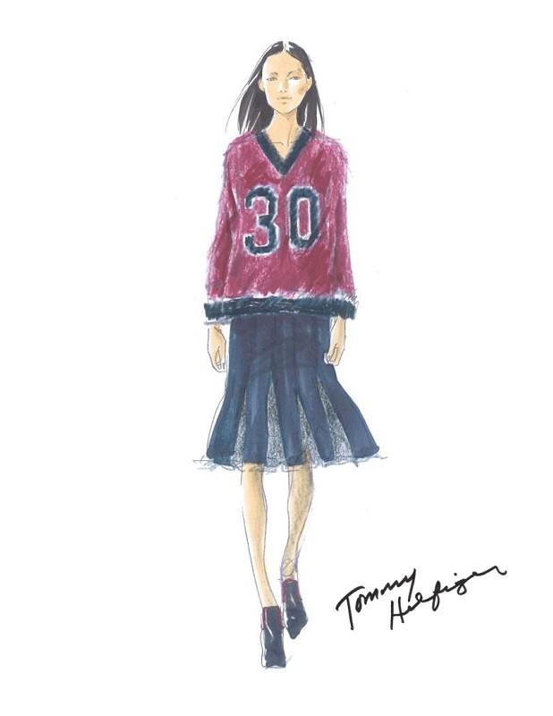 Tommy Hilfiger Fall/Winter 2015/16 Sketch