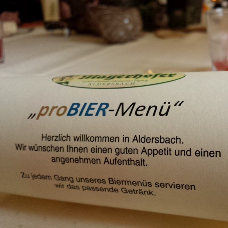 proBIER-Menu in Aldersbach