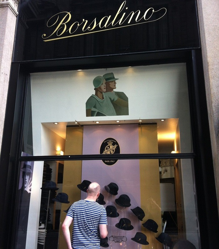 Borsalino window in Milano