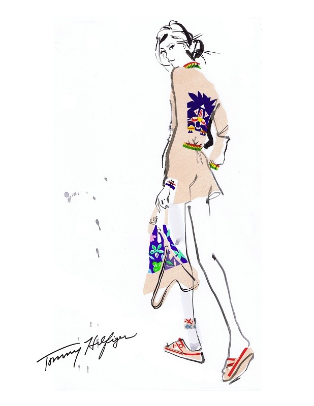 Tommy Hiilfiger Womenswear Spring/Summer 2016 Sketch