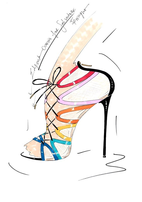 Edgardo Osorio for  for Salvatore Ferragamo - Sketch