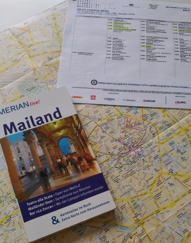 Ausblick Mailand Stadtplan und Fashionweek