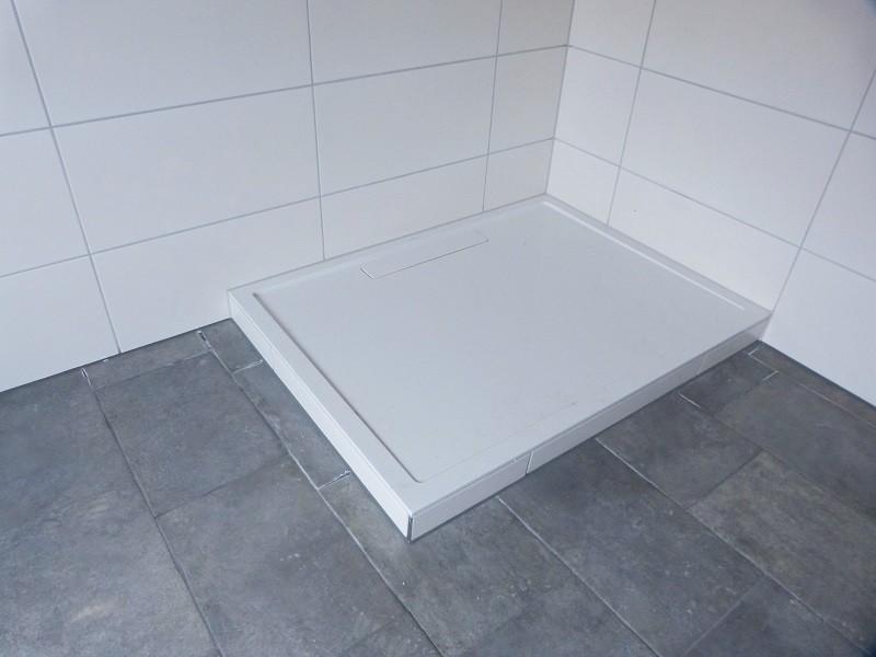 Fertig verflieste Duschwanne - Unverfugte Badewanne - Renovierung