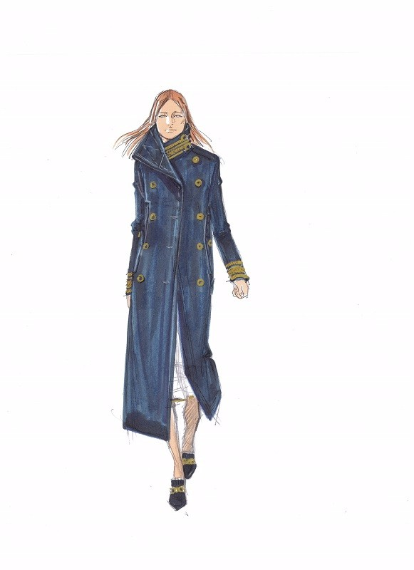 Tommy Hilfiger Womenswear Fall/Winter 2016/17 Sketch