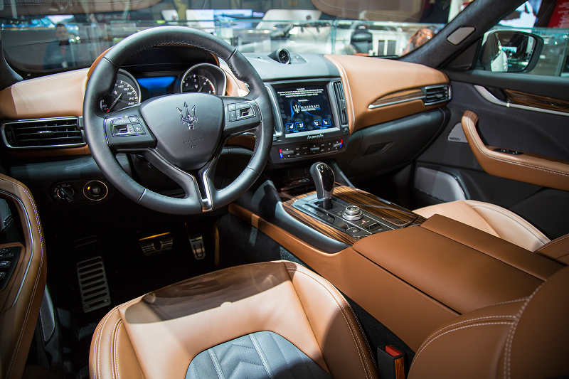Maserati Levante with Ermenegildo Zegna interior