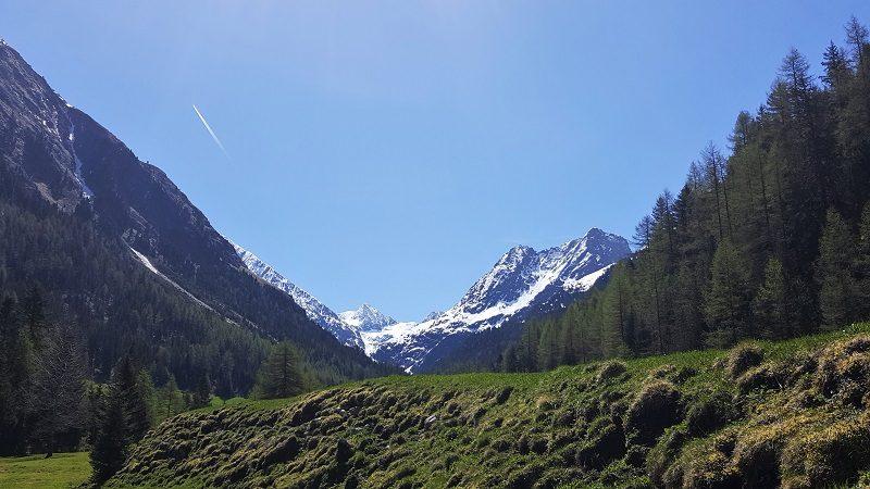 Blick auf die Gletscher in Gries im Ötztal