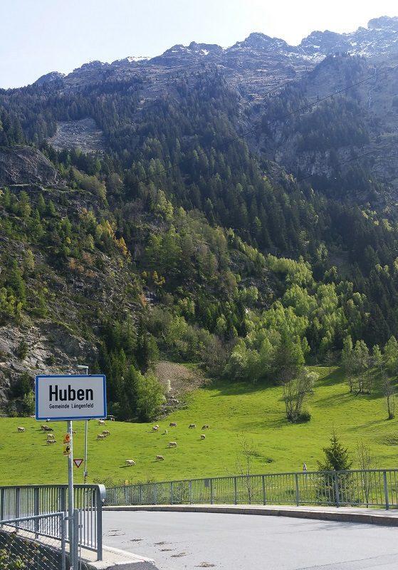 Ortseingang Huben im Ötztal