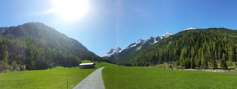 Panorama bei Gries im Ötztal