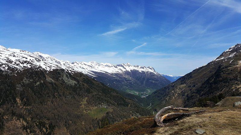 Timmelsjoch Ausblick ins Ötztal