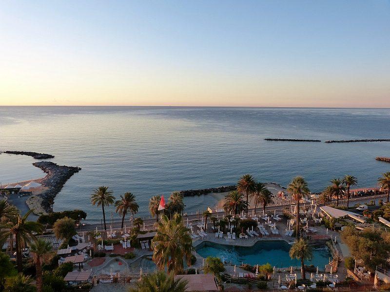 Ausblick aus dem Royal Hotel Sanremo