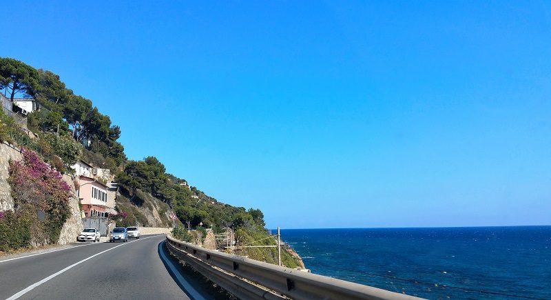 Küstenstraße bei Sanremo