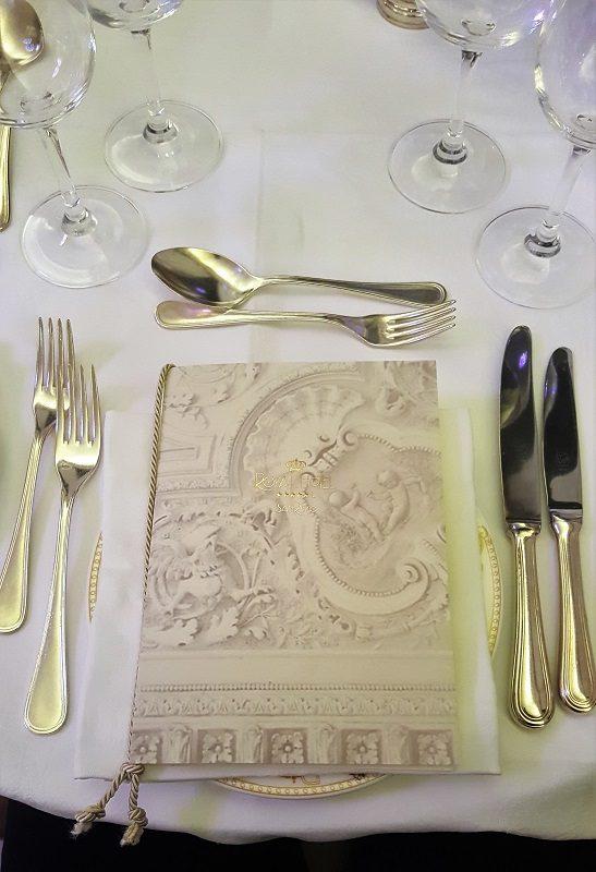 Dinner (mit Olivenöl) im Royal Hotel Sanremo