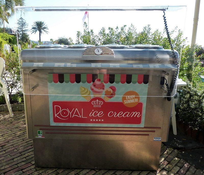 Eigenes Eis im Royal Hotel Sanremo