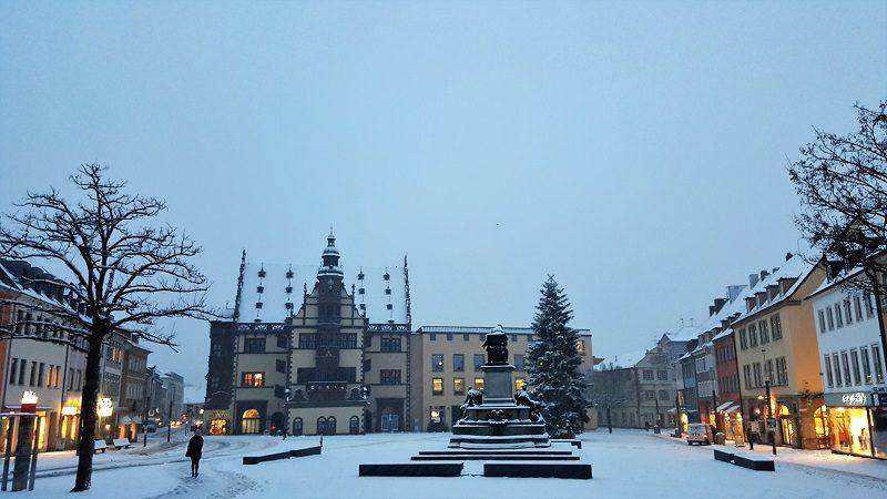 Merry Christmas! - Schweinfurt im Schnee