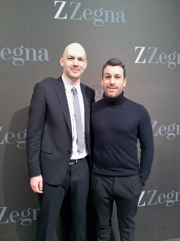 Paul Surridge (Creative Director of Z Zegna) and me