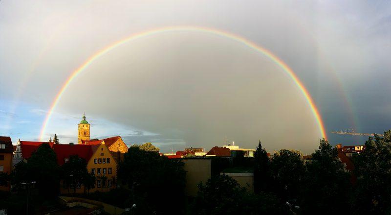 Regenbogen über Schweinfurt